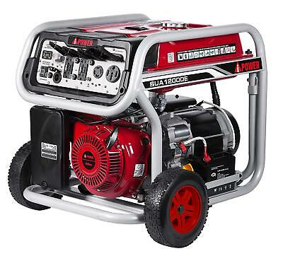 A-iPower 12000 Watt Gas Powered Portable Generator Electric Start W/ Wheel Kit