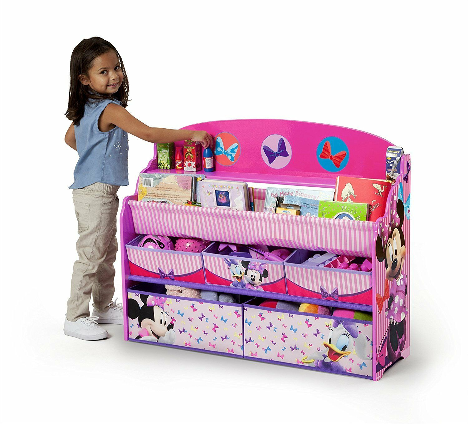 Dolls Butterfly Girls Toy Books Sturdy Wood Organizer Storage