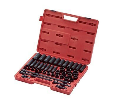 "Sunex Tool 2569 43 Pc 1/2"" Dr. Metric Master Impact Socket Set"