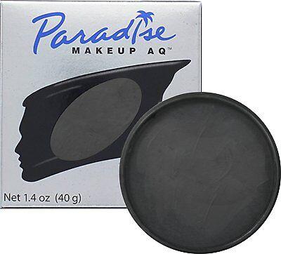 Black Body Paint (Paradise Makeup AQ Face & Body Paint, MEHRON MAKEUP, 1.4 oz)