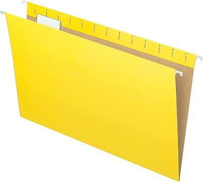 Pendaflex Recycled Hanging Folders Legal Size Yellow 15 Cut 25bx 81626