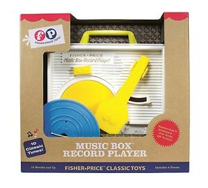 Music Box Classic Children Baby Record Player Fisher Price Retro Style Packaging