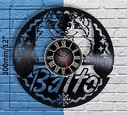 Balto Figure Wall Decor Vinyl Record Wings Of Change Clock Wolf Quest Home Art