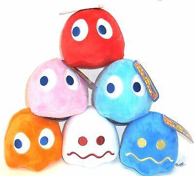 """Pac-Man 7"""" Ghost Plush Doll Set of 6 Pac Man Ghost Plush Red, Pink, Orange, Blue"""