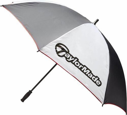 "TaylorMade 60"" Single Canopy Umbrella - White, Black and Gray NEW!"