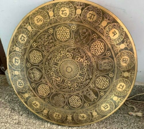 22 inch Thick gong for Deep Sound Healing - Handcrafted in Nepal - Best Healing