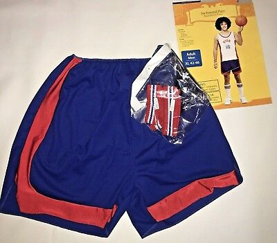Mens Basketball Player Shorts Halloween Costume Size XL 42 46 Headband Wristband