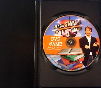 Are You Smarter Than a 5th Grader (PC, 2007) Case, Disc