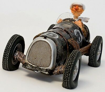 """GUILLERMO FORCHINO - """"THE GENTLEMAN DRIVER"""" - Comic Art Skulptur - N°FO85064"""