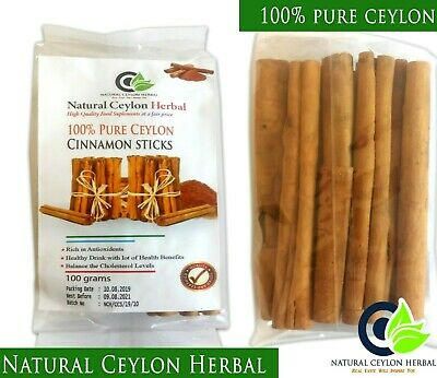 Ceylon Cinnamon sticks - Organic High Quality Pure Natural True Sri Lankan 100g