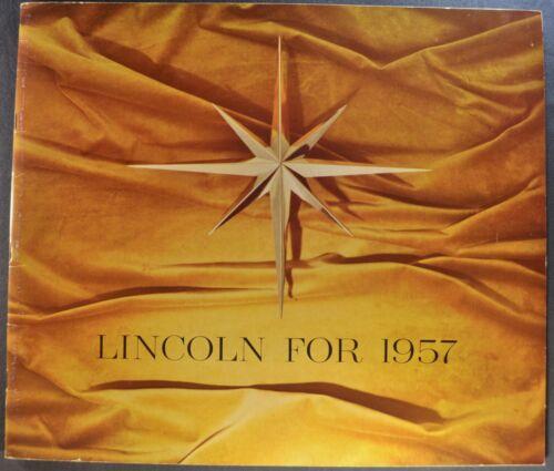 1957 Lincoln Large 20pg Catalog Brochure Premiere Capri Excellent Original 57