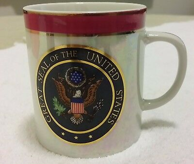 Great Seal of the United States Coffee Tea Cup Mug Lustrous Iridescent