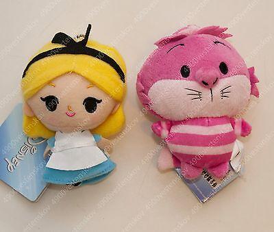 Pick 1pc Disney Alice in Wonderland Alice / Cheshire Cat Plush stuff Pendant toy - Alice In Wonderland Stuff