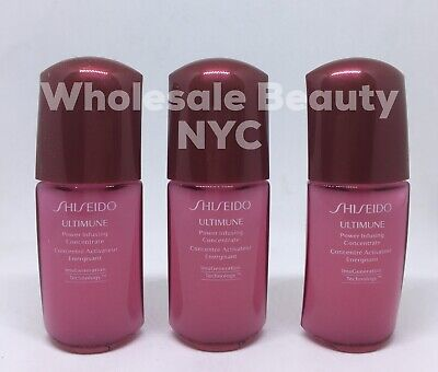 Shiseido Ultimune Power Infusing Concentrate Serum 10mL / .33 oz X3 - LOT OF 3 -