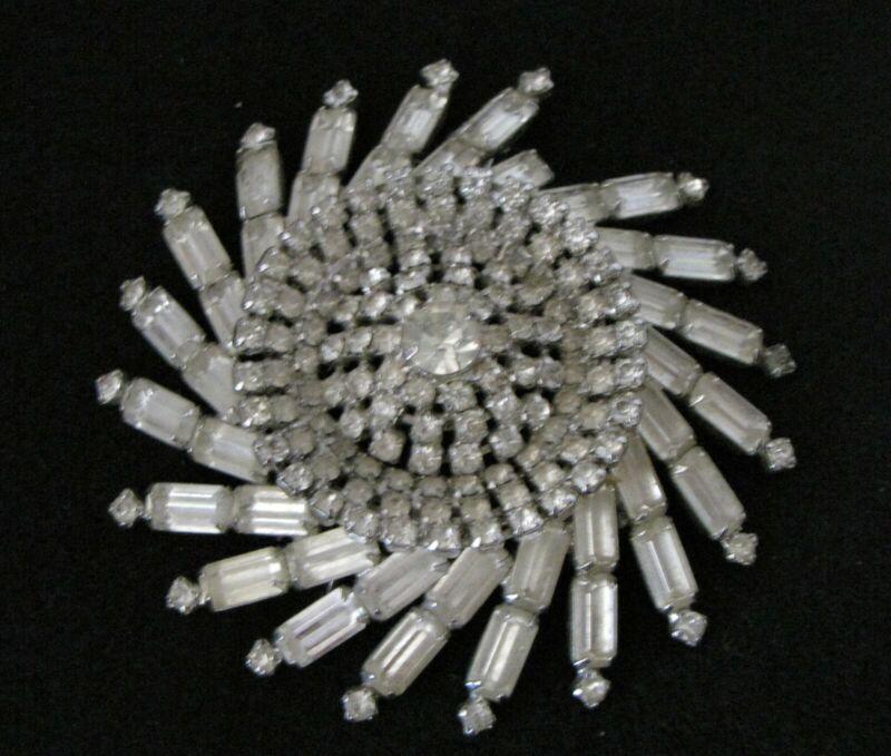 005#CJ--Brooch Starburst Pinwheel Paste Diamond Rhinestone
