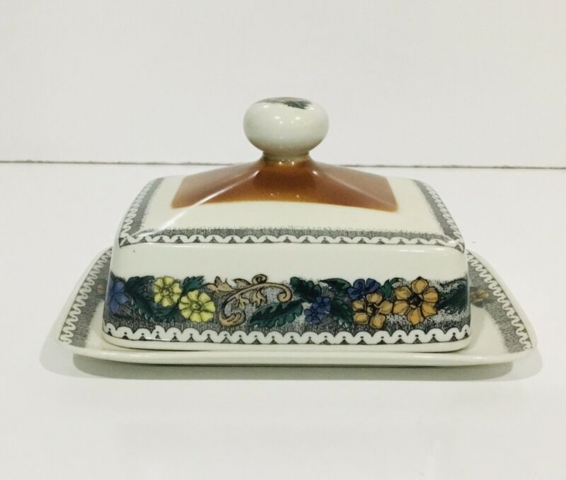 Goebel Burgund Country Butter Dish Bavaria W. Germany