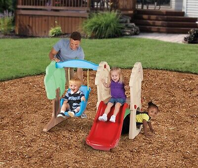 Childs Slide And Swing - Climber and Swing Set Outdoor Play Backyard Playset Kids Playground Toys Slide