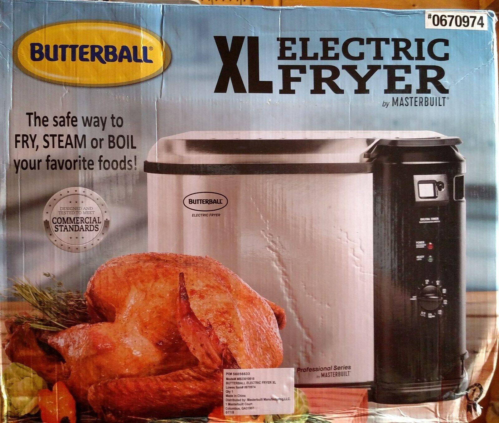 Mastrebuilt Butterball 23010618 XL Electric Fryer ~ NEW in B