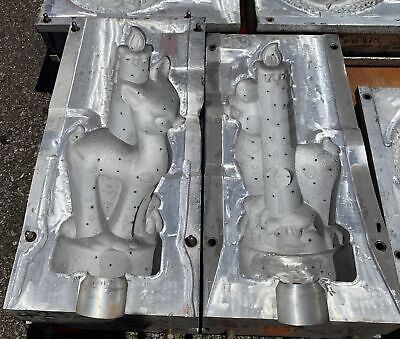 Reindeer And Candle Christmas Blow Mold For Plastic Molds