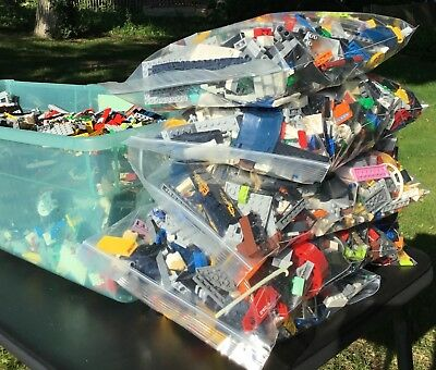 HUGE LEGO 20 POUND LOT RANDOM PICK PIECES BULK STAR WARS TOWN MIX LBS
