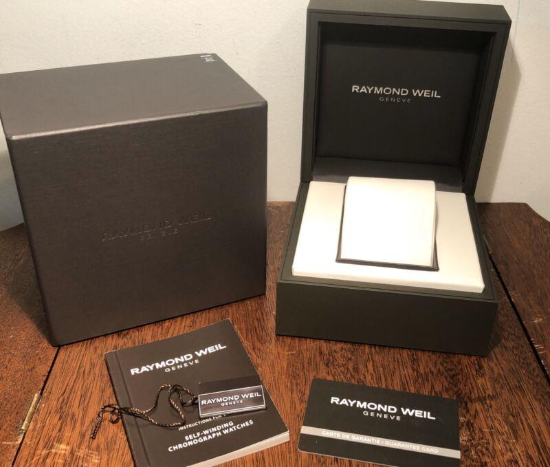 New! Authentic RAYMOND WEIL Geneve Presentation Watch Box, Book, Card, Tag