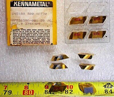 New Kennametal 245188r00 Grade Kc730 Top Notch Left Hand Carbide Insert 10 Piece