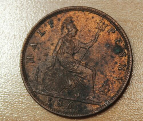 1866 Great Britain 1/2 Penny