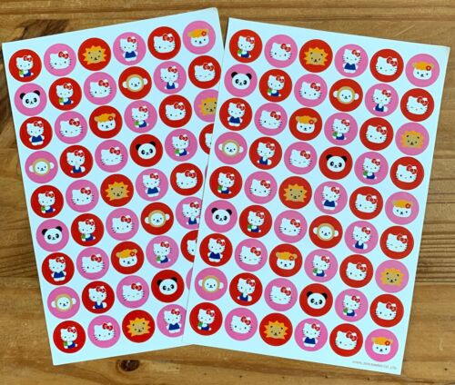 Sanrio HELLO KITTY & Friends 2 Large Sheets Stickers Small Round Stickers 2010