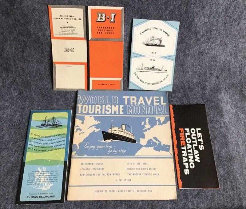1950s/60s Passenger Steamship Memoribilia P&O British India