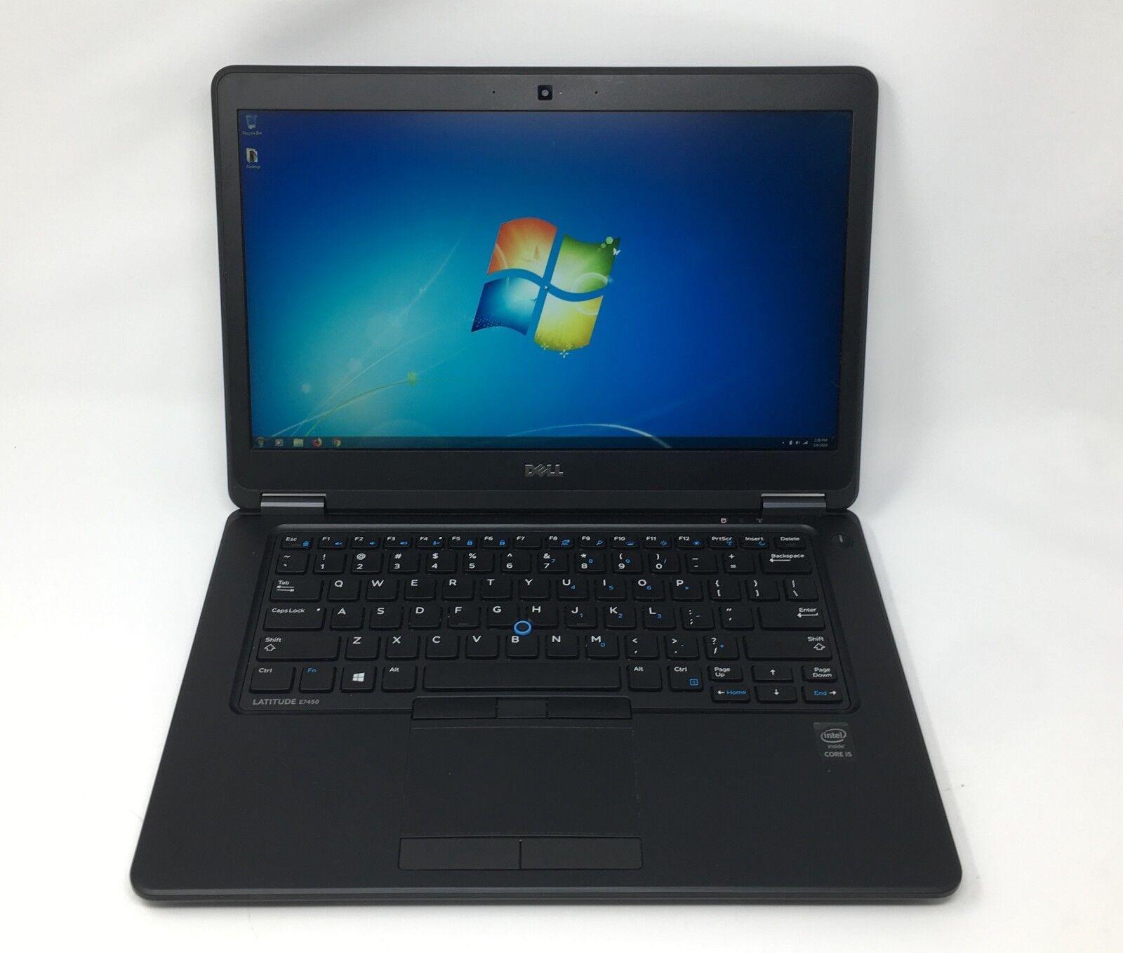 Dell Ultrabook E7450 Core i5-5300u 2.3GHz 8GB 128GB SSD Webcam 1080p Win7 Laptop