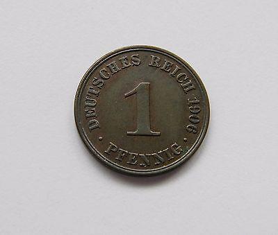 KAISERREICH: 1 Pfennig 1906 A, J. 10, stempelglanz, TOLLES STÜCK !!!
