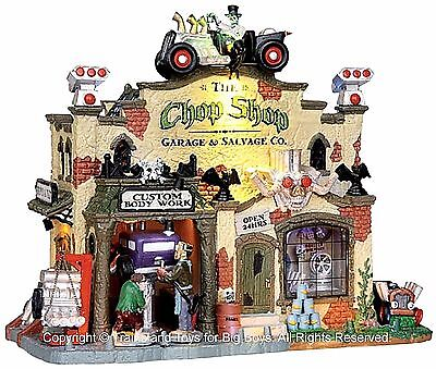 Lemax 25323 THE CHOP SHOP GARAGE & SALVAGE CO. Spooky Town Building Halloween I - The Garage Halloween