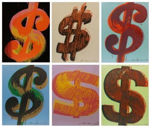 Andy Warhol Ii.274-279: $ (1) 1982   Portfolio Of 6 Unique Signed Screenprints