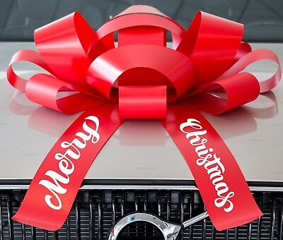 Merry Christmas Giant Bow | Big Car Bow Ribbon for the Holidays | SHIPS FREE - Big Bows For Cars