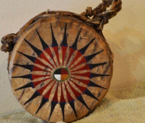 Medicine Wheel / Native American Drum Painted by Lakota Artist Sonja Holy Eagle