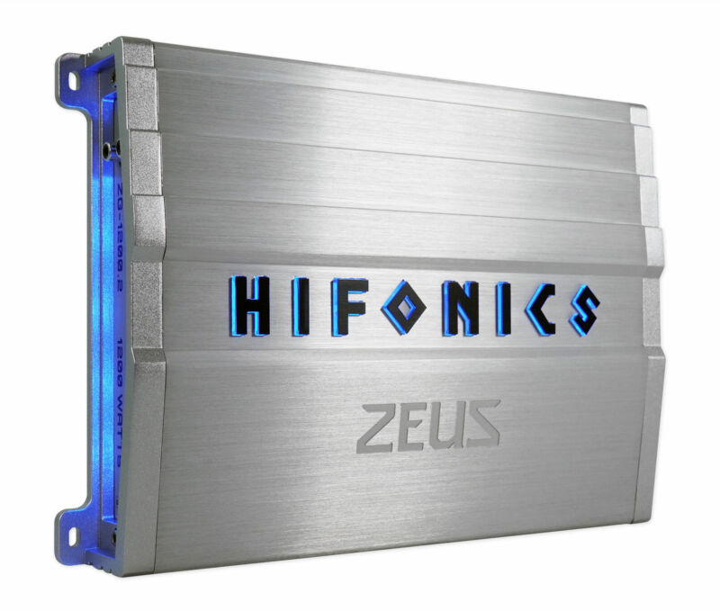 Hifonics ZG-1200.2 ZEUS Gamma 1200w 2-Channel Car Audio Amplifier Class A/B Amp