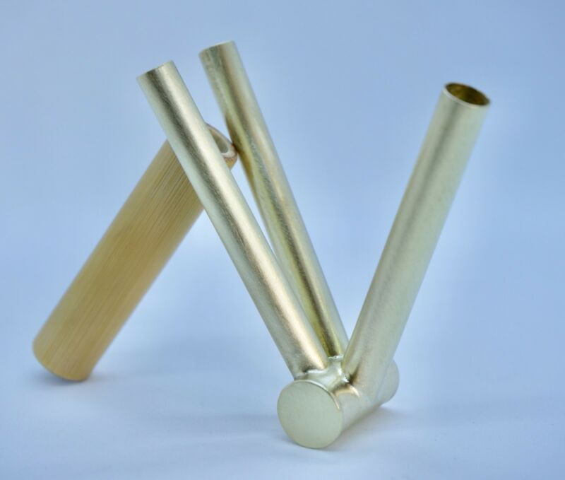 Rape pipe (Rapé) shamanic native indigenous applicator. Double action, handmade