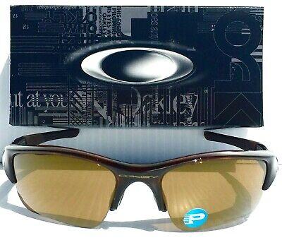 Neu Oakley Flak Jacket Rootbeer Polarisiert Bronze Golf Gläser Sonnenbrille 9009