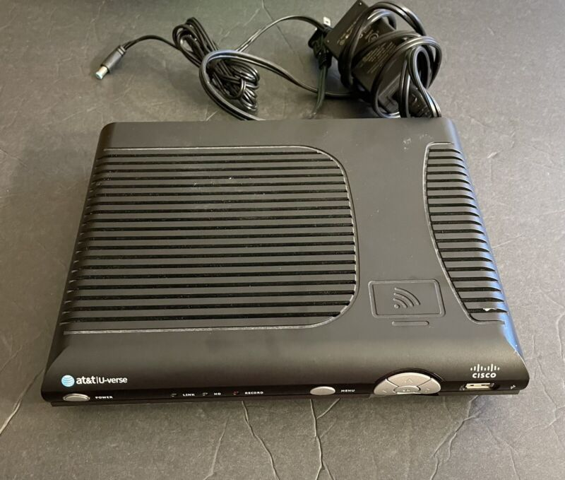 At&t  Uverse  Isb7005  Cisco  HD  Receiver And Power Cord