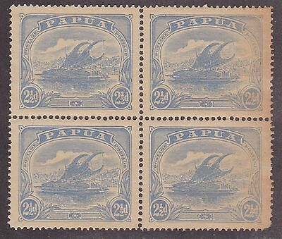 KAPPYSSTAMPS ID7837  PAPUA  52   BK/4 MINT  NH NEVER HINGED BLOCK TONED GUM