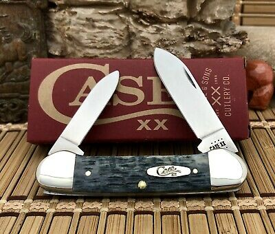 Case XX USA 2021 Pocket Worn Crandall Jig GRAY Bone CV CA58415 Canoe Knife