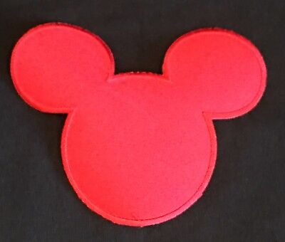 Mickey Mouse Ears Silhouette Iron On Patch - DiY Embroidered Disney - New  (Embroidered Mickey Mouse Ears)