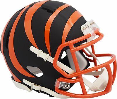 Riddell Cincinnati Bengals Black Matte Alternate Speed Mini Football - Bengals Helmet