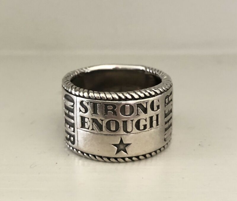 CHER Strong Enough 925 Sterling Silver Ring By Gabriel & Co. EXCLUSIVELY 4 Cher