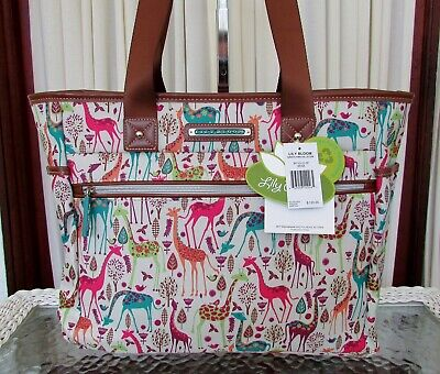 Lily Bloom Travel Tote Giraffe Park Luggage Large Overnight Bag ECO -