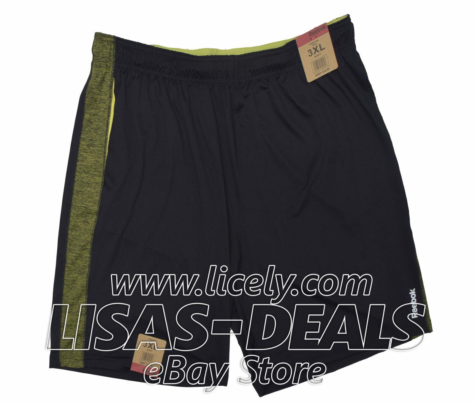 New Mens Reebok Athletic Shorts with Pockets Drawstring Runn