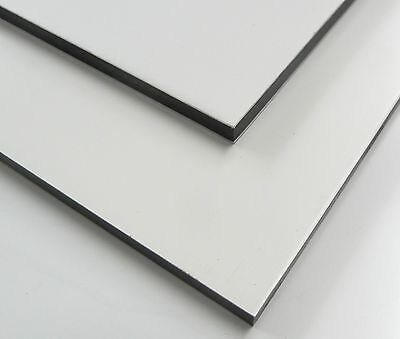 Lot Of  4  1 8 X48 X24  Aluminum Composite Panels White White Matte