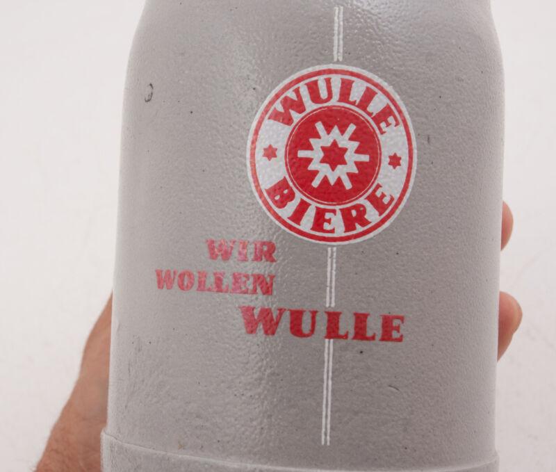 Wulle Bier Wir Wollen Stoneware Saltglaze Type Vintage Beer Stein Mug (H4R) .5L