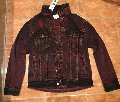 RARE Vintage John Richmond Hubrick Red-Black Men Denim Jacket