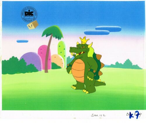 Super Mario World Animation Cel Dic Nintendo King Koopa 1991 Copy BG